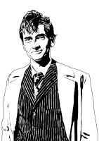 Dr Who A4 Lineart by JonathanWyke