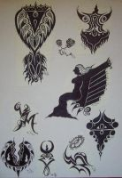 1993 SILLY TATTOO DESIGNS II by FRANTASEE