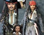 doll repaint - Jack Sparrow by noeling
