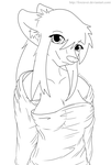 Krysalia cute clothes Lineart by FoxRaver