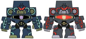 double Soundwave (transformers:animated) by dappeppad