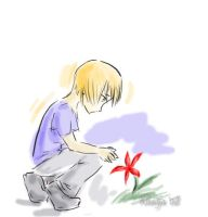 Little Person and Flower by Khaiya