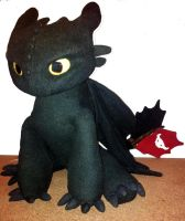 Toothless plush 3 by Dragonpawclaws