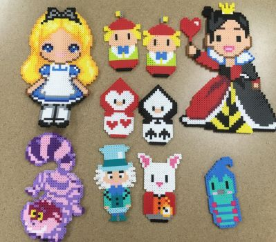Alice in wonderland perler beads by Khoriana