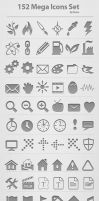 152 Mega Icons Set by femographi