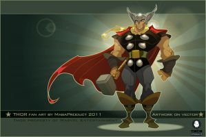 Fan-Art Thor on vector by MabaProduct