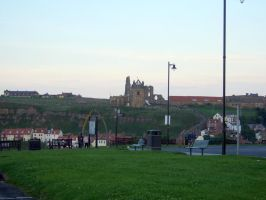 WHITBY sea front Abbey by Sceptre63