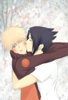 ~Naru Sasu: Cheek kiss by NicoleIsCrazy