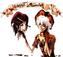 Night Clowns by DreamingEssence