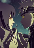 Eternal Rivals - Sasuke and Naruto by LiderAlianzaShinobi