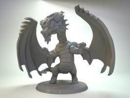 Red Dragon for Impact Miniatures by zelldweller