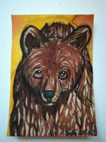 ACEO ~ The Bear  by yikoo