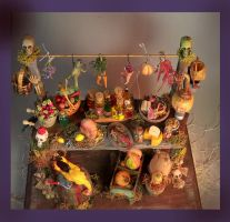 OOAK MINIATURE HALLOWEEN TABLE WITCH SWAMP by veronabarrella