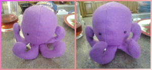 Purple Octopus Plushie by Rydiah
