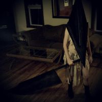 Female Pyramid Head Cosplay by MissPyramidHead4