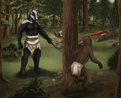The Encounter by Kekswolf by AudeS