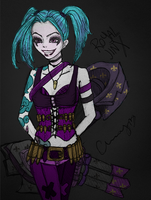 Royal Jinx by Cherries - Colored in Photoshop by Kevin-Yoshi