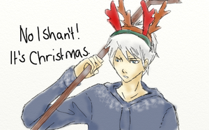 No, I shan't! It's Christmas. by xRhiRhix
