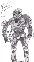 Kat from Halo Reach by Iceey23