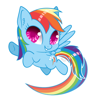 Chibi Rainbow Dash by lokkyta