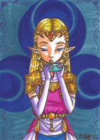Art Card 02 - Zelda OoT by VickyViolet