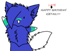 HAPPY late BIRTHDAY ICETAIL by xxDinoCupcakezxx