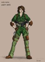 Lady Jaye character design 1.0 by MJFCreations