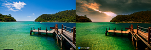 Bitch Beach Before and After by afiqreza7