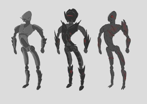 Bug Alien Early Concepts by dfgaandy
