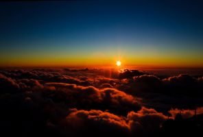 Sunset 3613m above sea level by apfe