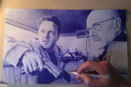 Pinkman and Mr White by SOMEONESART