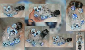 Snow Leopard Cub Doll by Eviecats