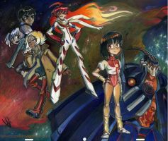 Gunbuster vs Diebuster by potatofarmgirl