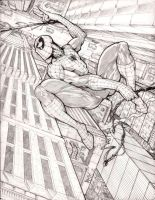 Spider-Man 'On the Move' (Pencils) by rhixart