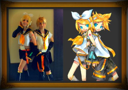 Rin x Len cosplay w/ picture by HatsuneMiku012