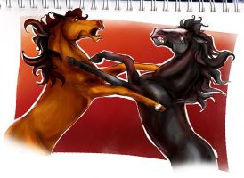 Rage against the horse by Anastasven