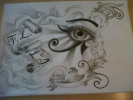 horus eye tattoo design by tattoosuzette