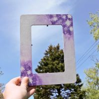 Purple Flower Picture Frame by BeeZee-Art