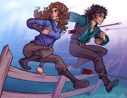 Jayden and Meara Shenanigans by Vanilleon