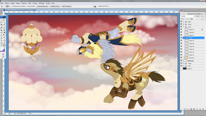 Work In Progress - Derpy Doctor Whooves Steampunk by tinuleaf