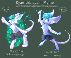 DRAW THIS AGAIN! //MY FIRST COMMISSION// by OliveCow