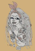 Sailor Jerry girl by Skippink
