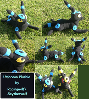 Shiny Laying Umbreon Plush by racingwolf