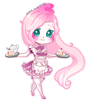 :Fluttershy maid: by a-clash-of-kings