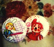 GummyBunny Buttons! Not made by me. by Iwillbethenextrobin