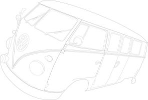 VW bus outline by absolute-beginner