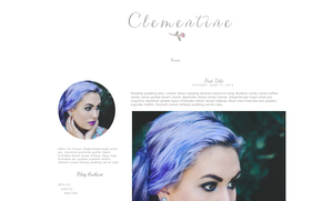 Clementine Blogger Template by candypow