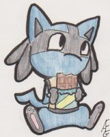 Lucario and his Chocolate by RaichuGirl123