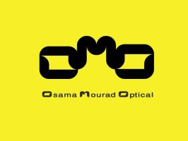 osama mourad optical logo by anamahmoud