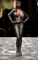 Catwoman Take One by Chup-at-Cabra